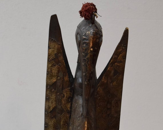 African Statue Hornbill Senufo Tribe Ivory Coast Hornbill African Statue