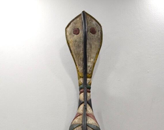 African Mask Snake Mask Baga Tribe Ceremonial Mask