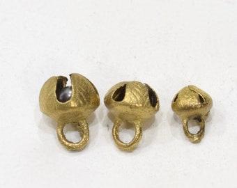 Beads India Brass Cross Bells Assorted 10-15mm