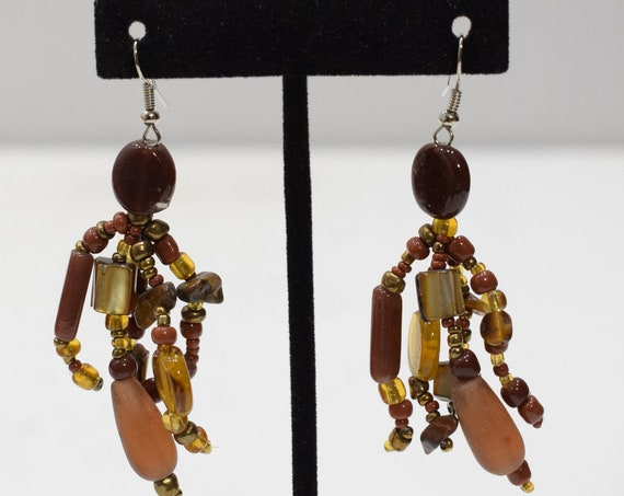 Earrings Multi Color Glass Beaded Earrings