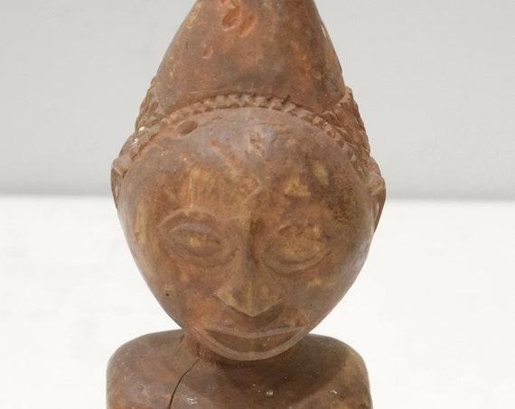 "African Statue Luba-Hemba Janus Wood Statue DRC 10 3/4"""