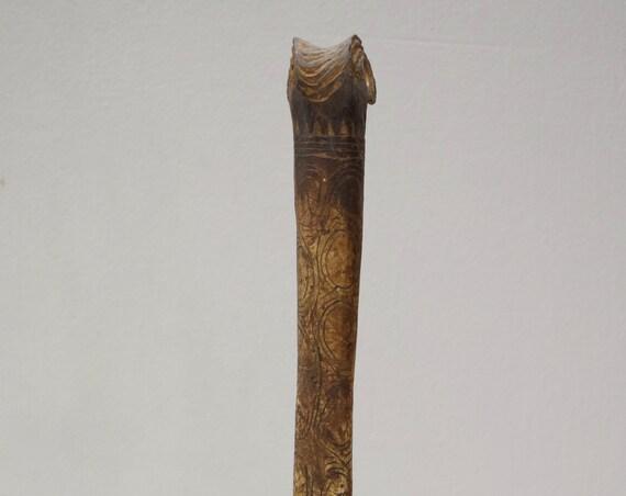 Papua New Guinea Dagger Bone Cassowary Abelam Incised