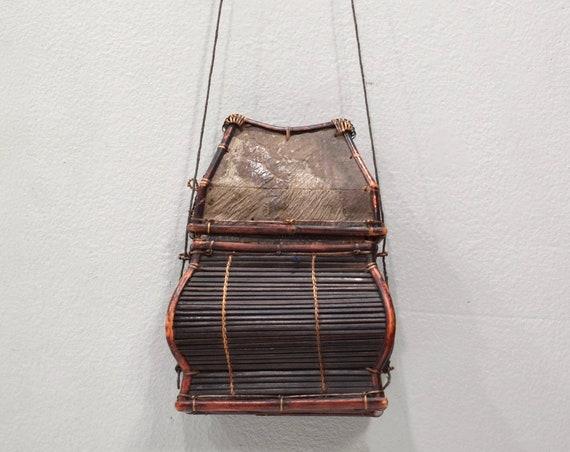 Basket Indonesian 2 Hanging Palm Leaf Basket