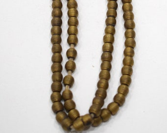 Beads African Brass Ridged Round Beads 8mm