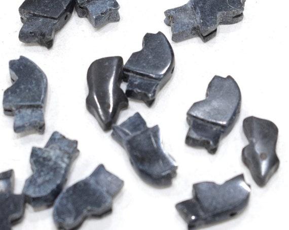Beads Black Onyx Fetish Bear Beads 18mm