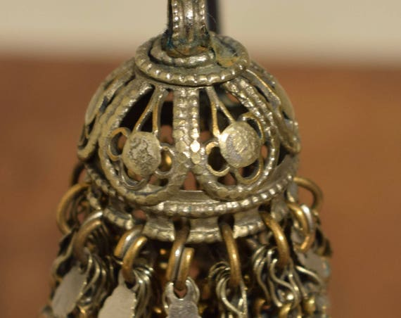 """Beads Bell Silver Kuchi Belly Dancing Jewelry Middle Eastern Kuchi Bell 3"""""""