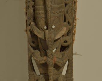 """Papua New Guinea Figure Ancestor Sepik River Crocodile Totem Figure 33"""""""