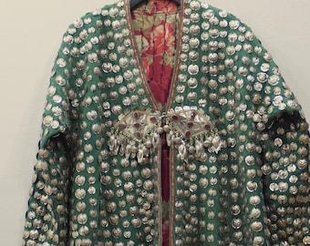 Coat Wedding Middle Eastern Green Flannel