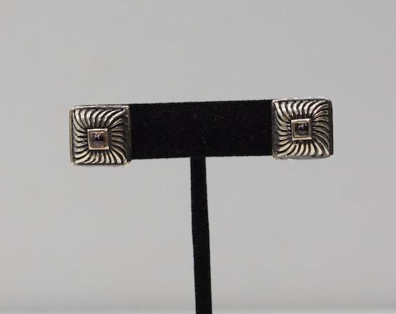Earrings Sterling Silver Amethyst Post Earrings