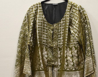 Jacket Silk Green Brocade Jacket