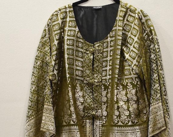 Jacket Silk Green Brocade Jacket