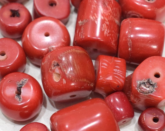 Beads Chinese Assorted Red Coral 12-22mm