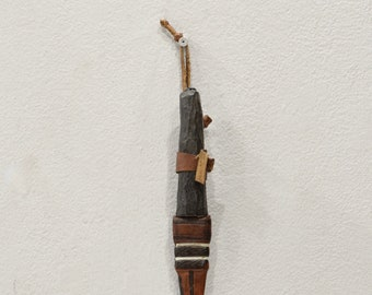 African Mossi Tribe Bronze Knife Leather Sheath