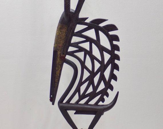 African Mask Bamana Chi Wara Headdress Mali