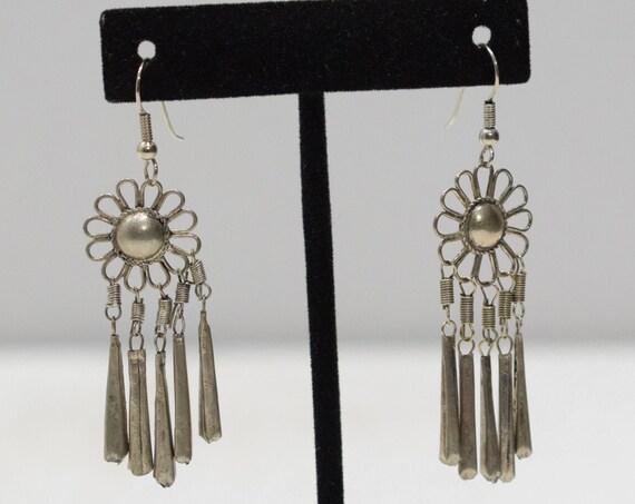 Earrings Thai Silver Flower Earrings