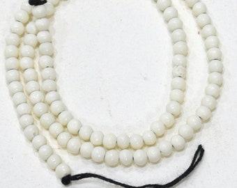 Beads Indonesian White Small Bone Beads