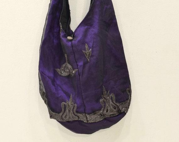 India Shoulder Bag Silk Hand Sewn Colorful Shoulder Bag