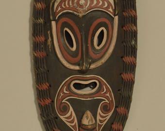 Papua New Guinea Mask Teacher East Sepik Wood Rattan Dream Mask