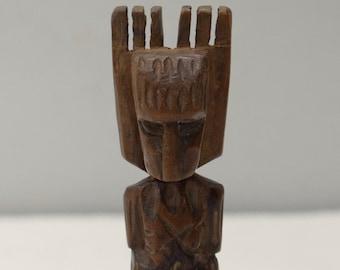 Slingshot Mayan Carved Wooden Jaguar Guatemala Slingshot