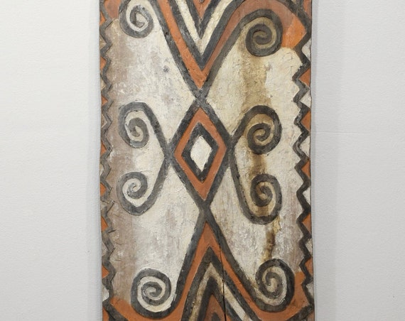 Papua New Guinea Sheild Wood Ceremonial Spirit Clan Symbols Board