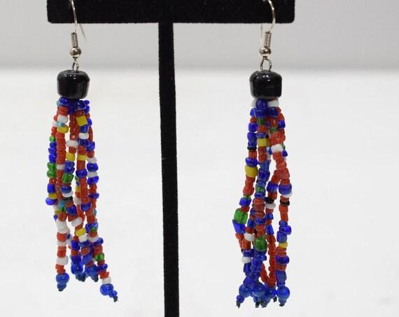 Earrings Multi Color Beaded Earrings