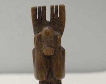 Slingshot Mayan Carved Wooden Monkey Guatemala Slingshot