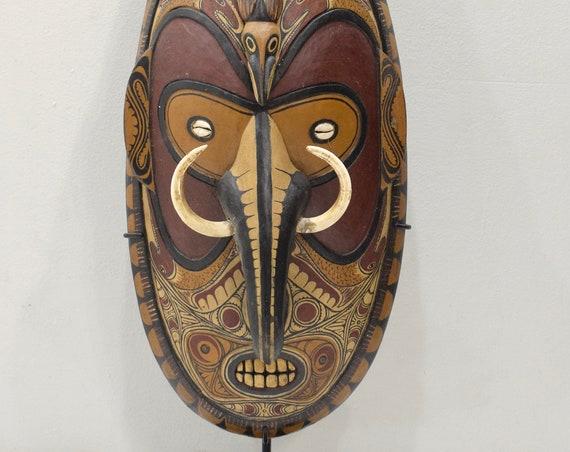 Papua New Guinea Big Mouth Mask Latmul Tribe Tambanum Mask