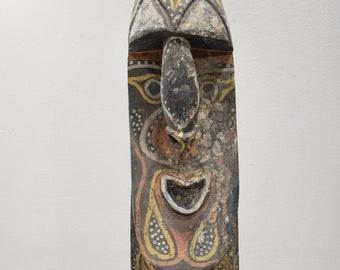 Papua New Guinea Old Yena Yam Wood Maprik Mask