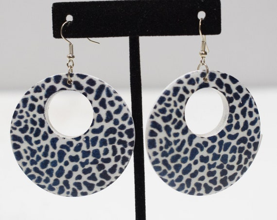 Earrings Painted Animal Print Earrings