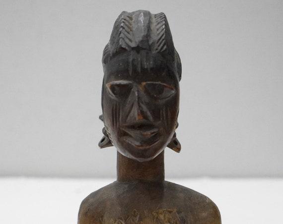 African Ibeji Female Statue Yoruba Nigeria