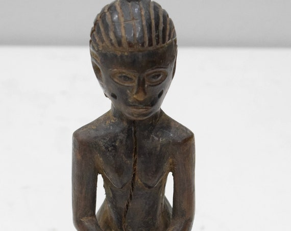 "African Statue Old Makonde Tanzania Wood Figure 7.5"""