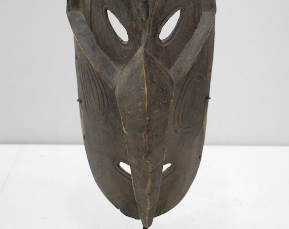 Papua New Guinea Mask Ancestor Angoram Sepik River Wood Spirit Mask
