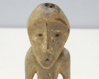 "African Lega Figurative Wood Sculpture Lega 9 3/4"""