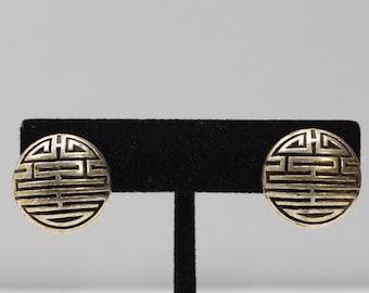 Earrings Gold Button Clip Earrings