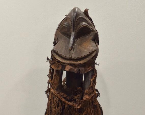 African Mask Hemba Bark Costume Monkey Mask