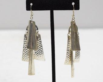 Earrings Silver Stick Dangle Earrings