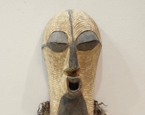"African Mask Songye Male Wood DRC Mask 25"""