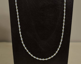 Necklace Pearl Silver Lovely Beaded Handmade Necklace Jewelry