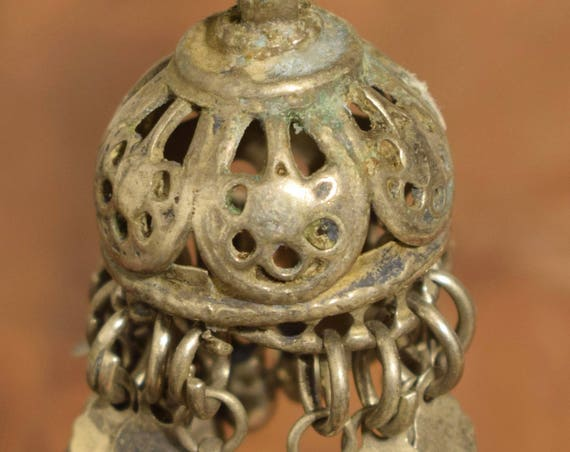 Beads Bell Silver Kuchi Belly Dancing Jewelry Middle Eastern Kuchi Bell 2""