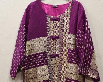 Jacket Silk Purple Gold Brocade Jacket