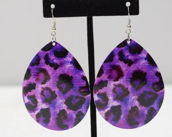Earrings Purple Animal Print Earrings