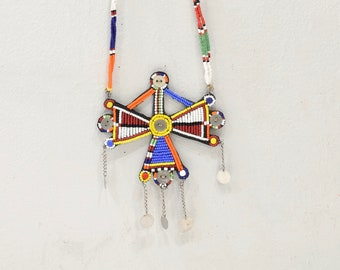 African Masai Beaded Necklace Kenya Vintage