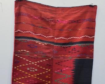 Burmese Lotus Burgundy Handmade Textile
