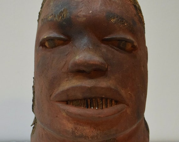 African Mask Makonde Helmet Wood Mask Tanzania Initiation Male Ancestor Spirit Makonde Mask