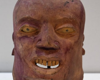 Mask African Makonde Helmet Wood Mask
