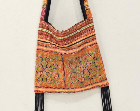 Shoulder Bag Purse Hmong Hill Tribe Embroidered Shoulder Bag
