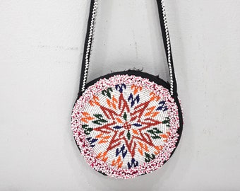 Purse Middle Eastern Beaded Double Side Shoulder Purse