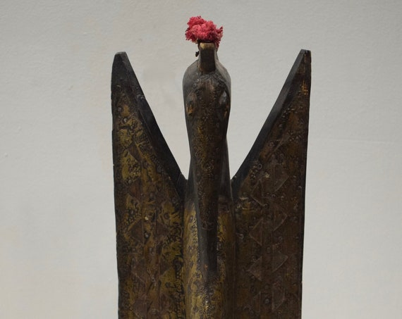 African Statue Hornbill Senufo Tribe Ivory Coast Hornbill African Statue