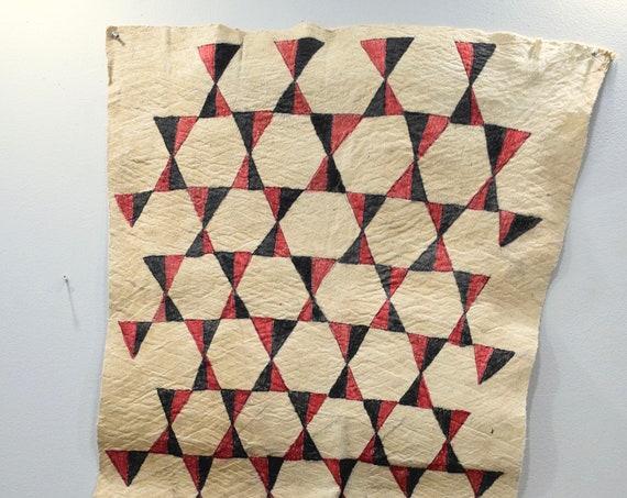 "Papua New Guinea Barkcloth Ceremonial Baining Cloth Tapa Cloth 53"""
