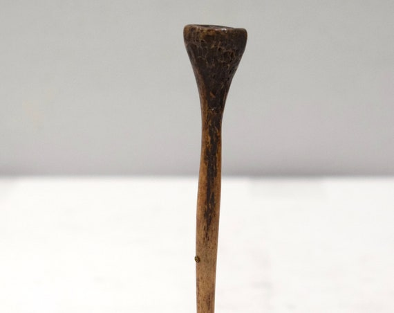 Papua New Guinea Lime Spatula Carved Bone Lime Spatula